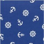 639-1 белые якоря на синем