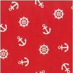 639-2 белые якоря на красном