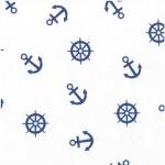 639-3 синие якоря на белом