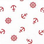 639-4 красные якоря на белом