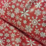 1827-20 Снежинки красный