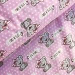 1903-1 Мишка с бантом розовый
