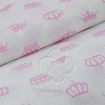 369-2 Короны на белом розовая