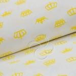 369-8 Короны на белом желтая