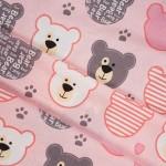 8126-1 Мишки печворк розовые