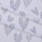 8141-39 Сердечки вязаные серые бз