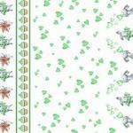 9412 Зайчата купон зеленые