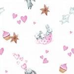 9507 Зайчата розовые