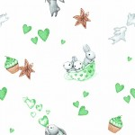 9507 Зайчата зеленые